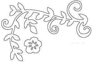 Vine with flower Die (10091)