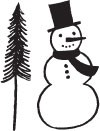 Snowman with Tree (1343e)