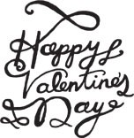 Valentine Calligraphy (1354g)