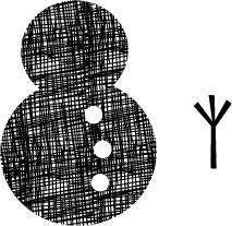 5192F - crosshatch Snowman