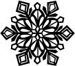 5194C - crystal cut snowflake