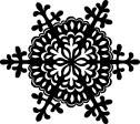 5207D - wintery cut snowflake