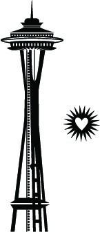 5242G - space needle (heart burst on side)