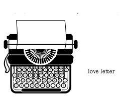 5244E - typewriter (love letter on side)