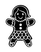 5301D - gingerbread woman