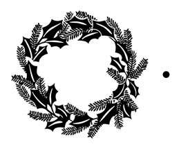 5305F - holly wreath combo