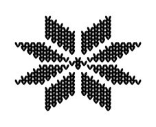 5307D - knitted snowflake