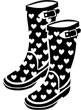 5345C - heart rainboots