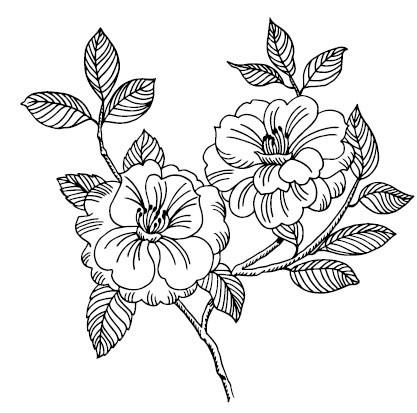 5475j - tree rose stamp