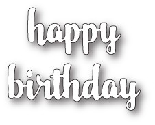 Happy Birthday Upright Script craft die (99684)