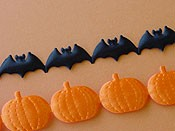 Pumpkin and Bat Ribbon