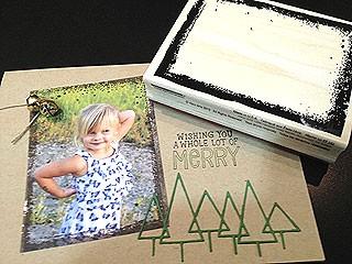 Brushed Frame Photo Card