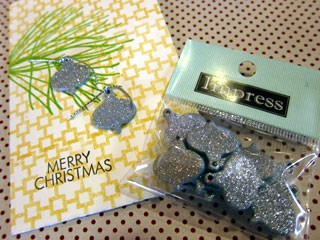 Glittered Ornament Embellishments