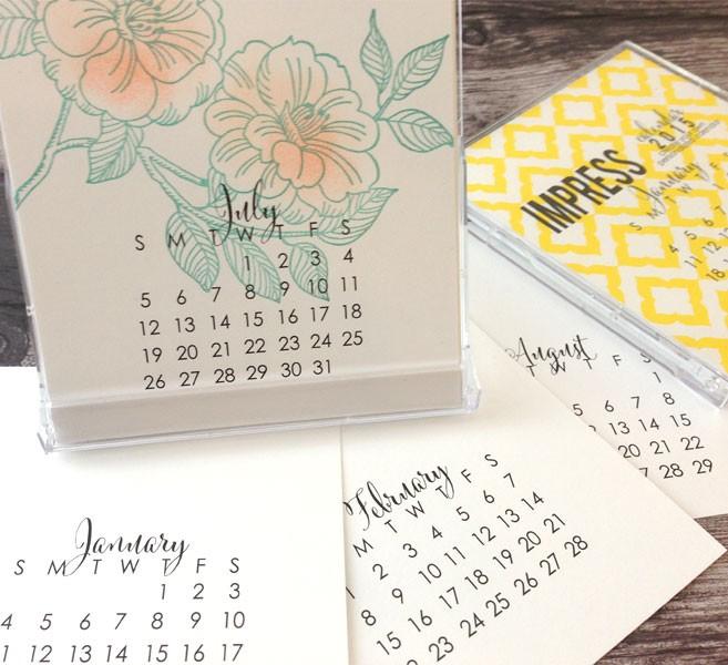Impress 2015 Small Calendar - SALE!
