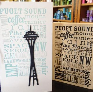 Seattle Word Background