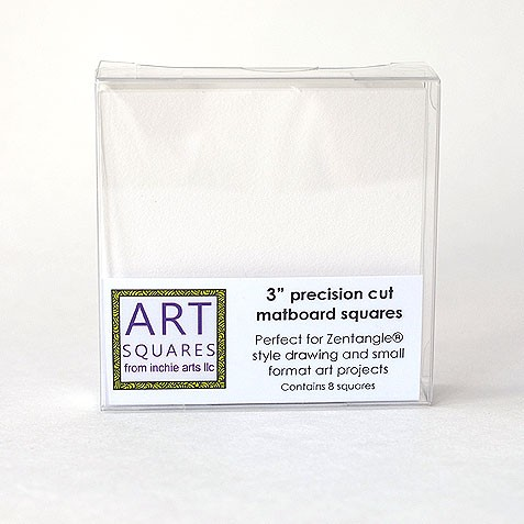 Art Squares - white 3 inch