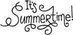 5293C - it's summertime lettering