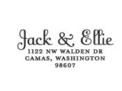 Jack & Ellie Custom Stamp