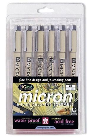 Pigma Micron Pen Set