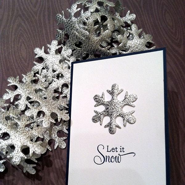 Silver Snowflakes Ribbon