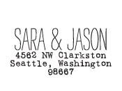 Sara & Jason Custom Stamp