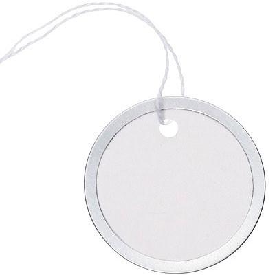 Silver Rimmed Circle Tags