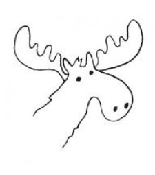 Moose Rubber Stamp (1551d)