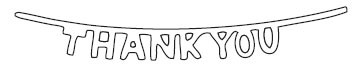 Thanks You Banner Die (10087)