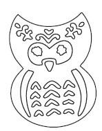 Flower Owl Die (10099)