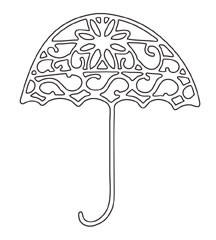 Ornate Umbrella Die (10116)