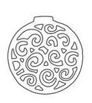 Swirl Ornament (10135)