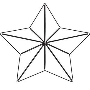 Large 3d star (10145)