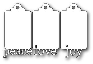 peach love and joy tags (mb1110)