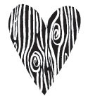 Woodgrain Heart (1261e)