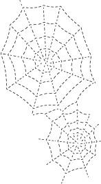 Stitched Spider Webs (1307)
