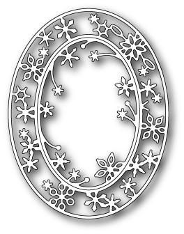 Snowflake Oval Frame (1333)