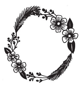 feather wreath (1407g)