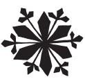 vintage snowflake (1435d)