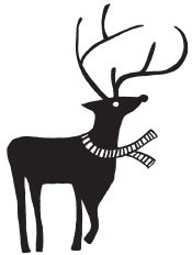 lg deer with scarf (1436h)