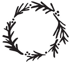 Watercolor Wreath (1443j)