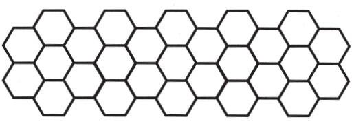 Honeycomb border (1454m)