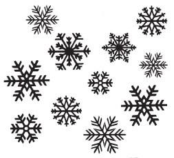 snowflake confetti (1456l)