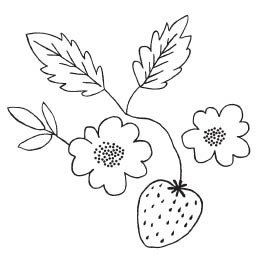 Savvy Strawberry Blossom Stamp (1571g)