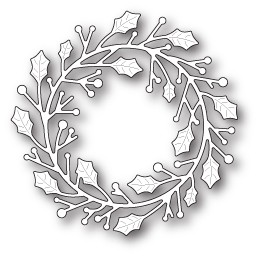 Home for the Holidays Wreath craft die (1646)
