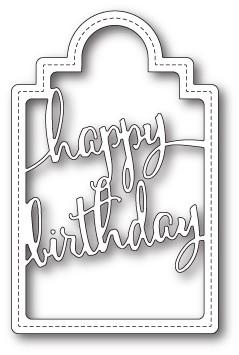 Happy Birthday Tag craft die (1713)