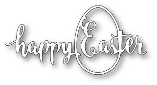 Happy Easter Egg craft die (1714)