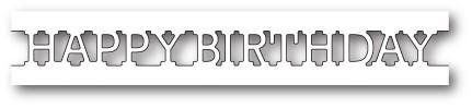 Happy Birthday Channel craft die (1721)