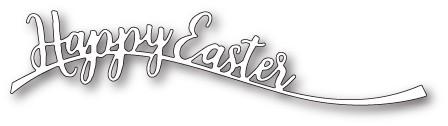 Happy Easter Curve craft die (1769 )
