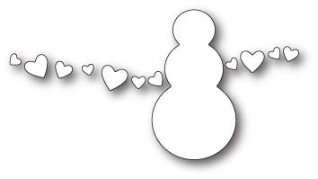 Poppystamps Snowman Love craft die 1848