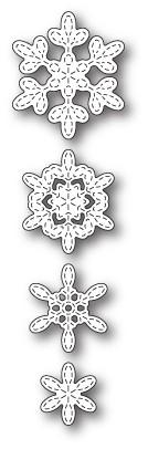 Poppystamps Stitched Evangeline Snowflakes craft die 1864